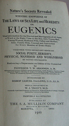 """disability eugenics and united states The number of people sterilized under the 1909 eugenics law in california account for one third of all the recorded sterilizations that occurred in the united states in the 20th century all people affected lived in state institutions and were classified as having disabilities or deemed """"unfit for reproduction""""."""